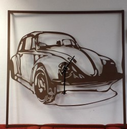 Tableau/horloge coccinelle 130 cm x 130 cm