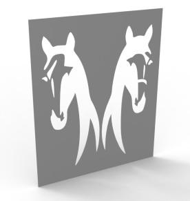 Tableau deux chevaux
