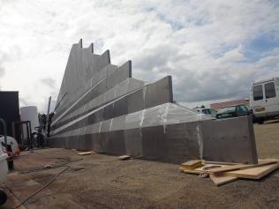 Fabrication d'une cascade pour JTI - Genève